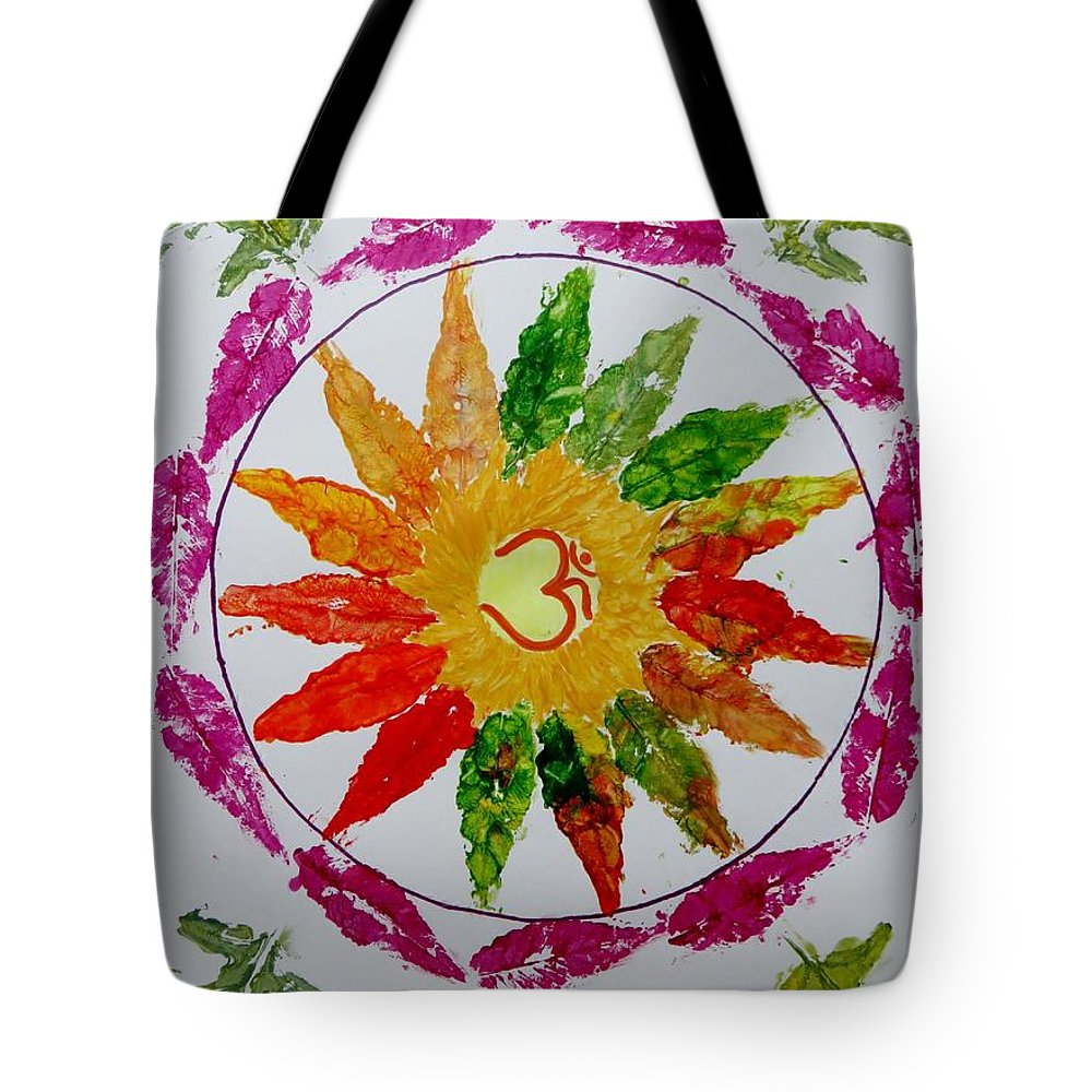 Radial Balance Tote Bag featuring the painting Autumn Chakra by Sonali Gangane