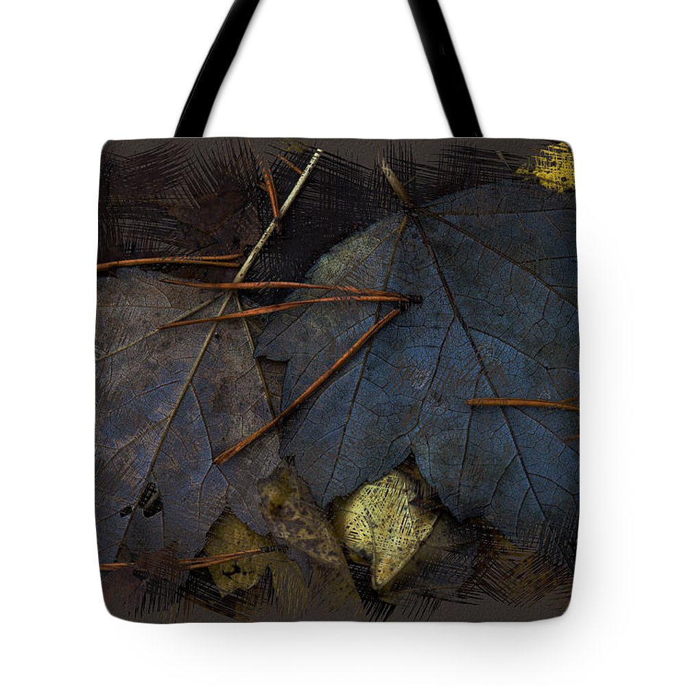 Ron Jones Tote Bag featuring the digital art Autumn End by Ron Jones
