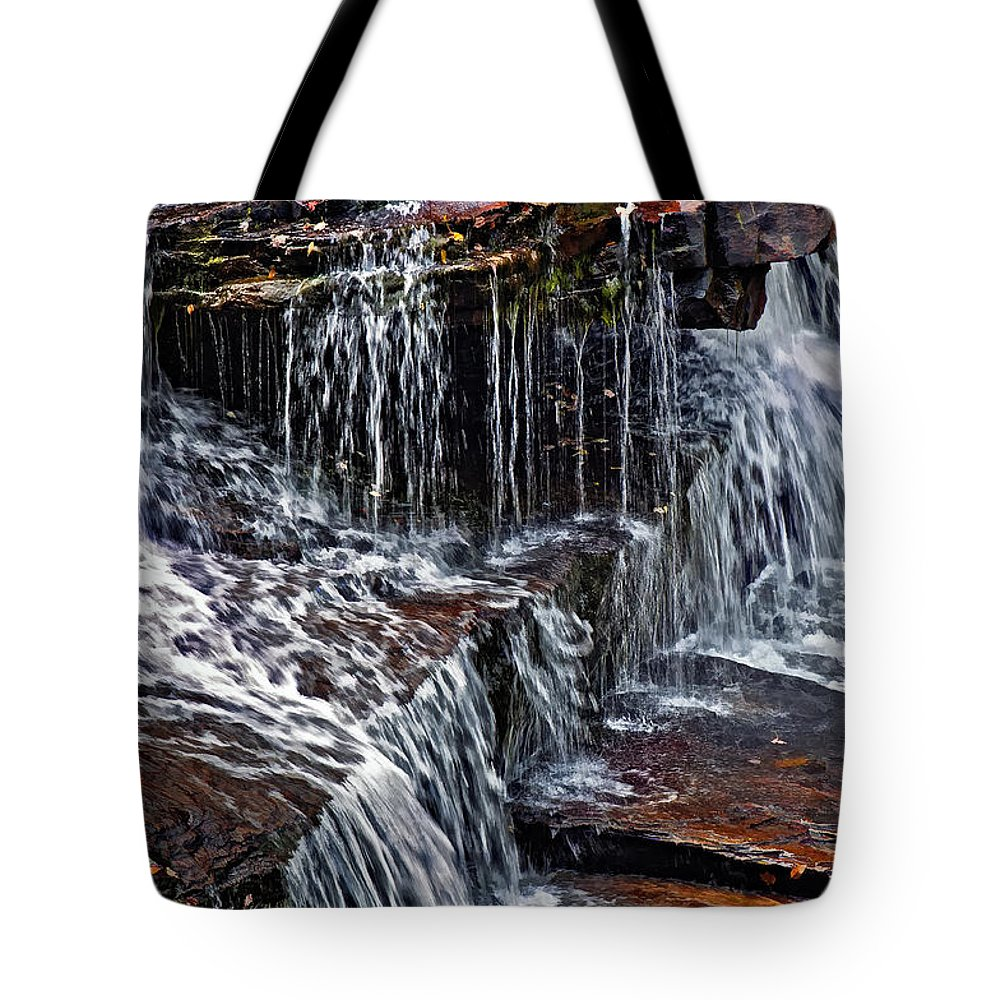Water Tote Bag featuring the photograph Autumn Falls 3 by Steve Harrington