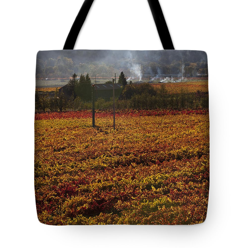 Autumn Tote Bag featuring the photograph Autumn In Napa Valley by Garry Gay