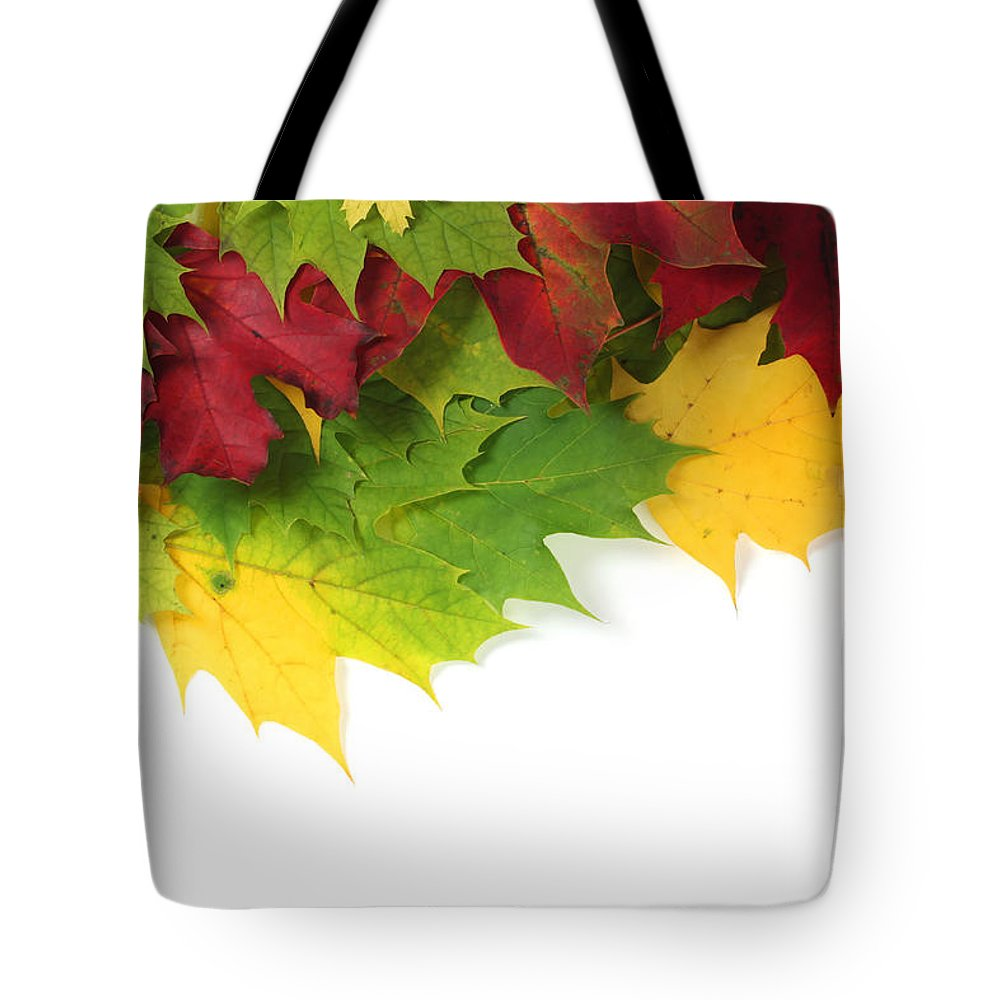 Autumn Tote Bag featuring the photograph Autumn Leaves In Colour by Simon Bratt Photography LRPS