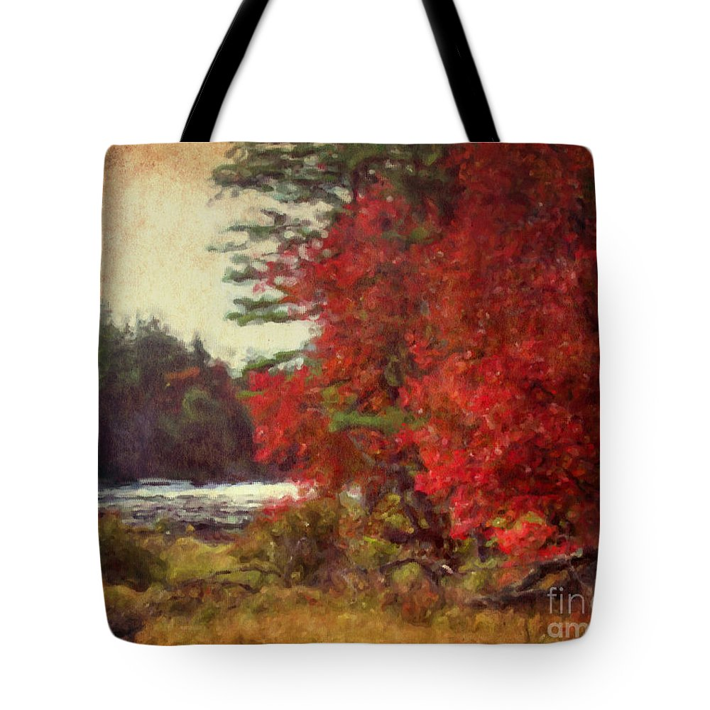 Autumn Tote Bag featuring the painting Autumn Of Yesteryear by Smilin Eyes Treasures