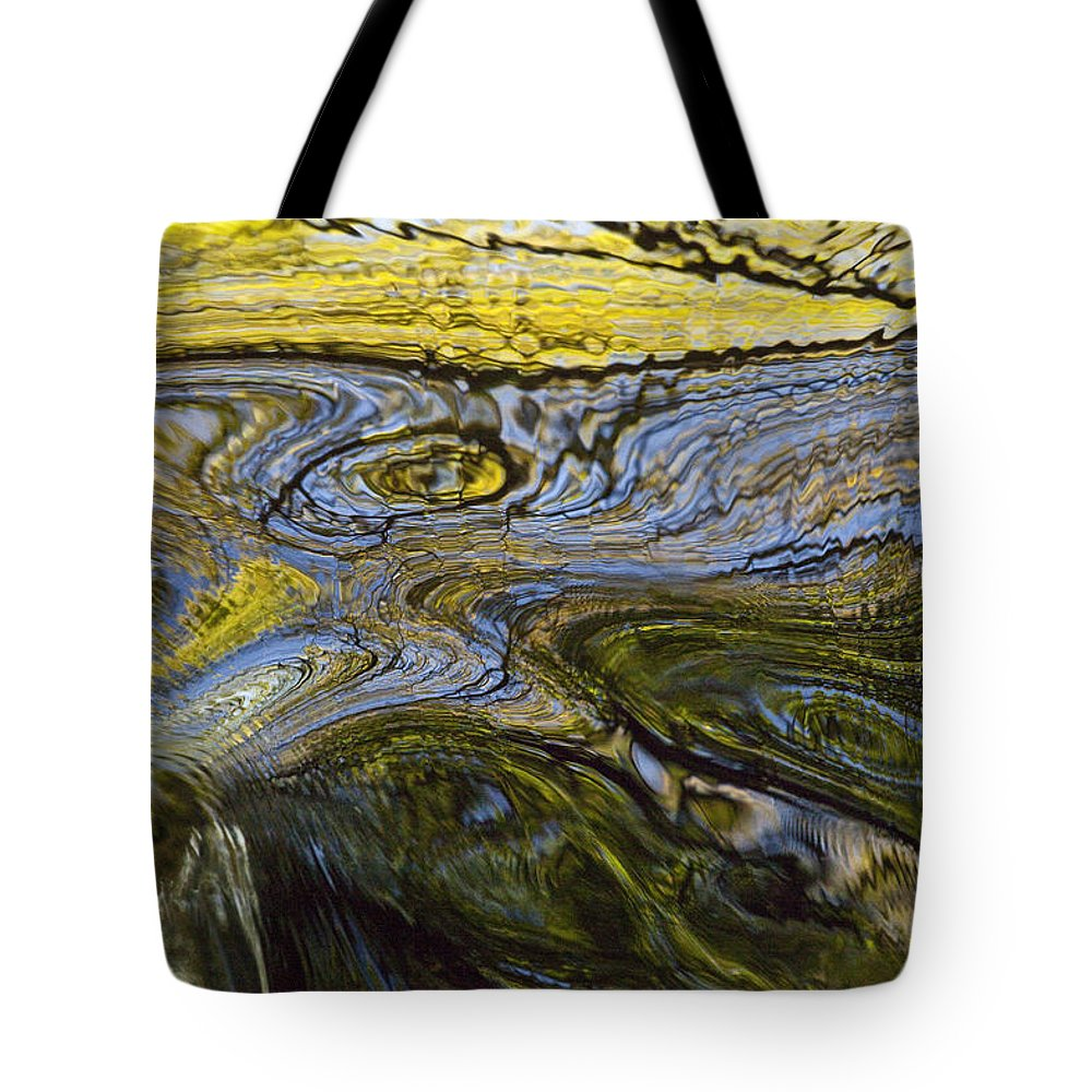 Hhh Tote Bag featuring the photograph Autumn Patterns In Small Waterfall by Colin Monteath