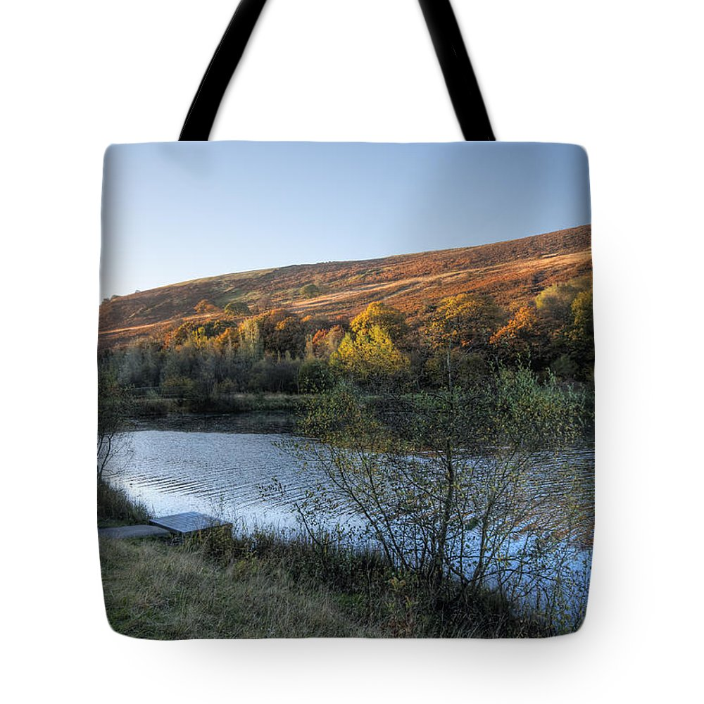 Autumn Pond Tote Bag featuring the photograph Autumn Pond 3 by Steve Purnell