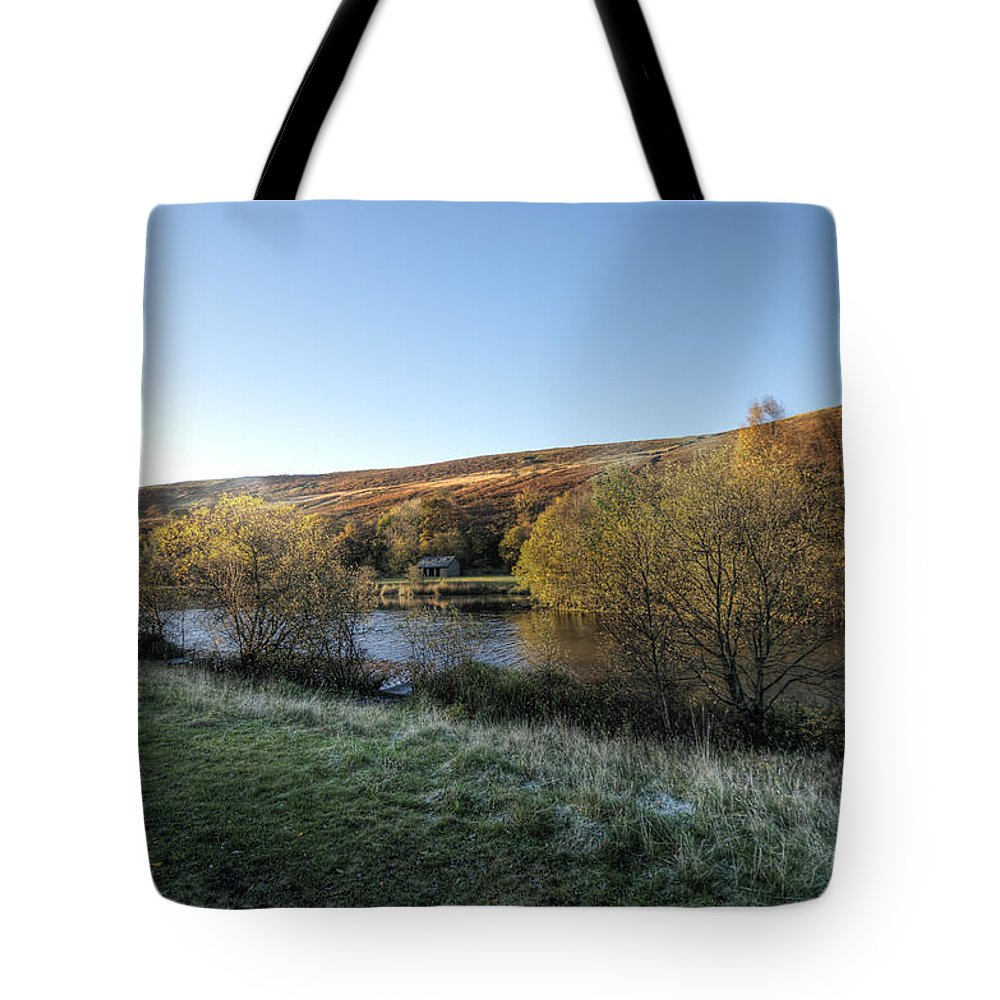 Autumn Pond Tote Bag featuring the photograph Autumn Pond 7 by Steve Purnell