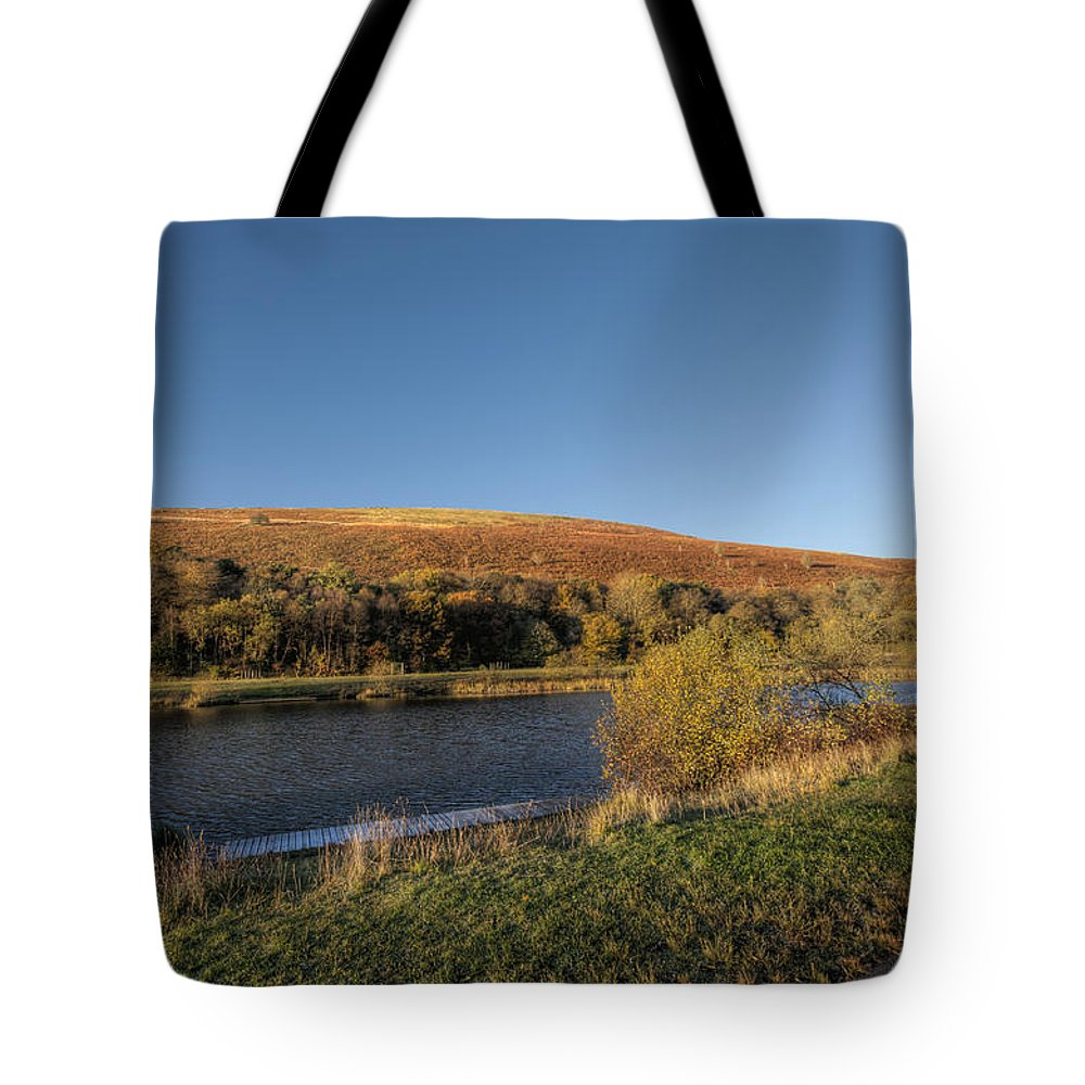 Autumn Pond Tote Bag featuring the photograph Autumn Pond 9 by Steve Purnell