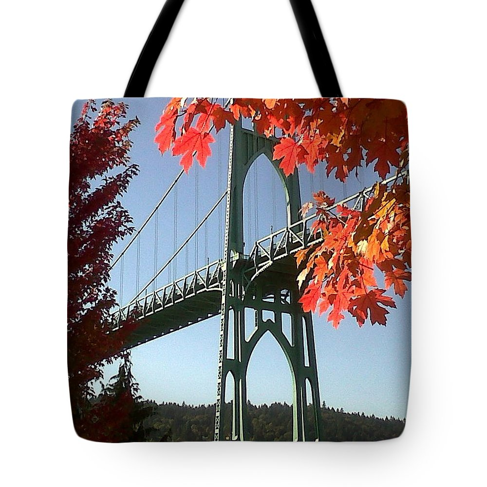 Oregon Tote Bag featuring the photograph Autumn by Quin Sweetman