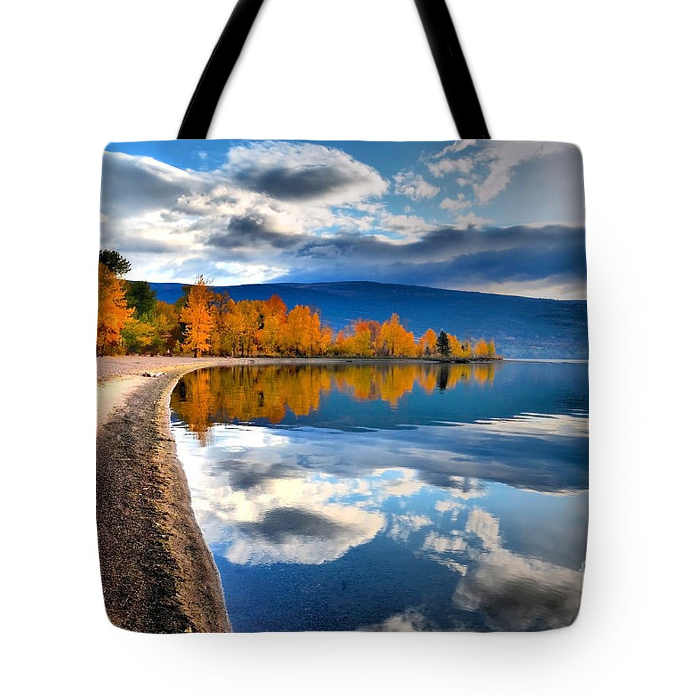Autumn Tote Bag featuring the photograph Autumn Reflections In October by Tara Turner