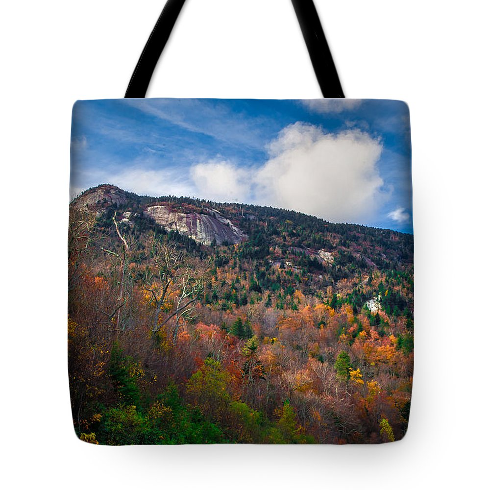 Autumn Tote Bag featuring the photograph Autumn Summit by Scott Hervieux