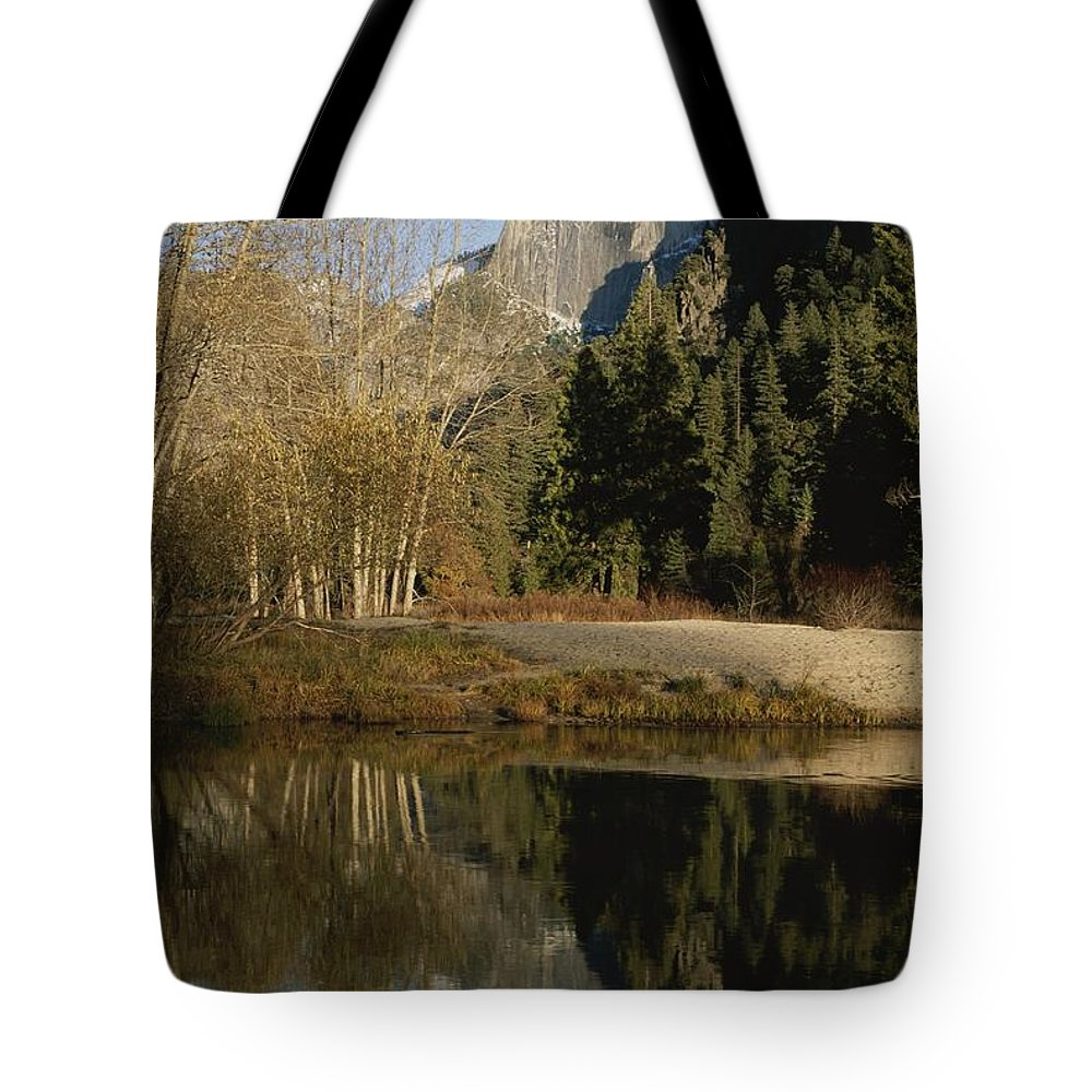 North America Tote Bag featuring the photograph Autumn View Of The Park With Half Dome by Marc Moritsch
