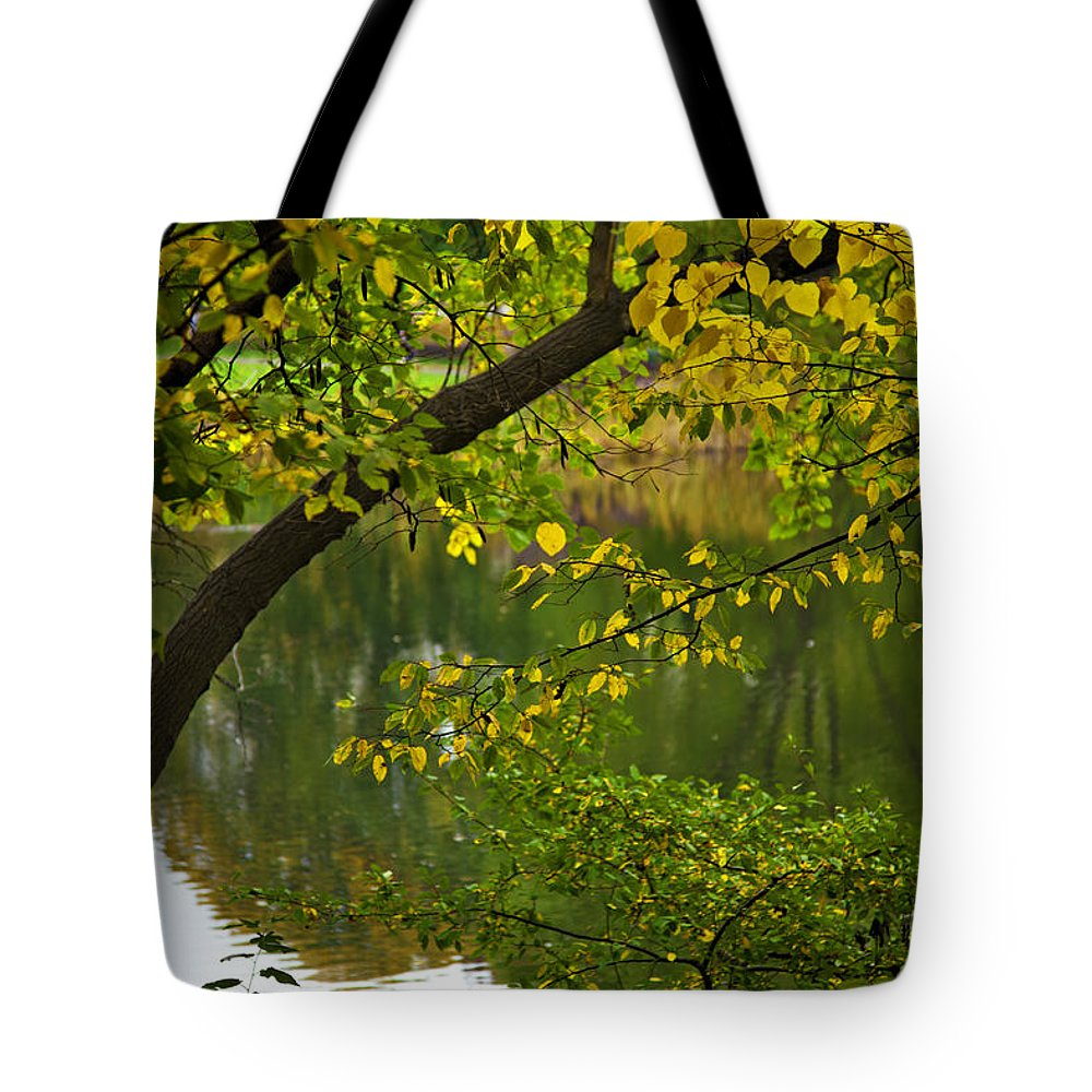Autumn Tote Bag featuring the photograph Autumn's Touch by Madeline Ellis