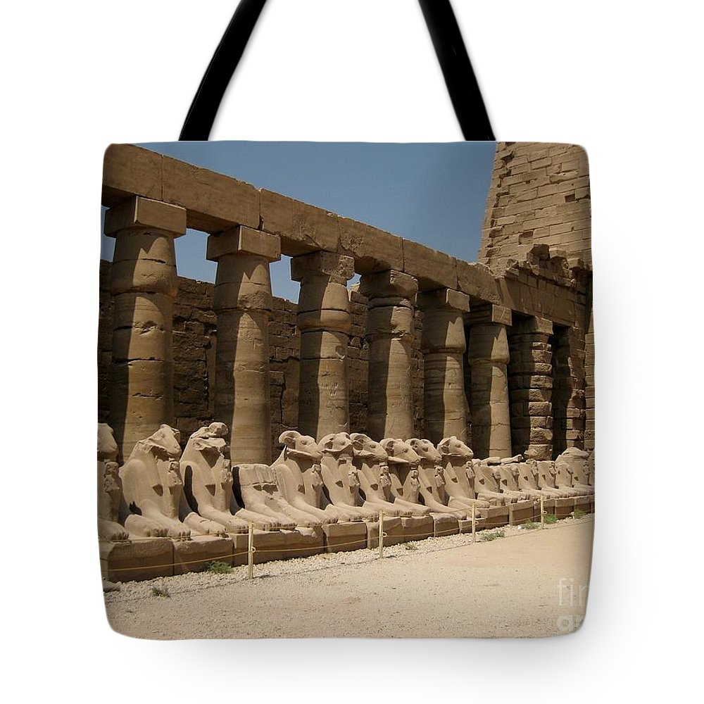 Ruins Tote Bag featuring the photograph Avenue Of The Sphinx by John Malone
