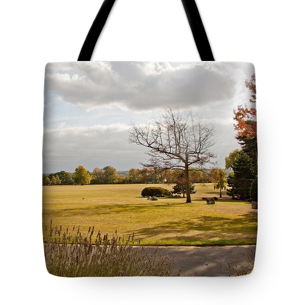 Avery Hill Tote Bag featuring the photograph Avery Hill Parkland by Dawn OConnor