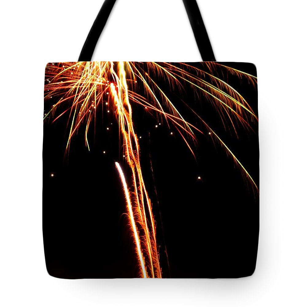 Fireworks Tote Bag featuring the photograph Backyard Fireworks 2012 3 by Robert Morin