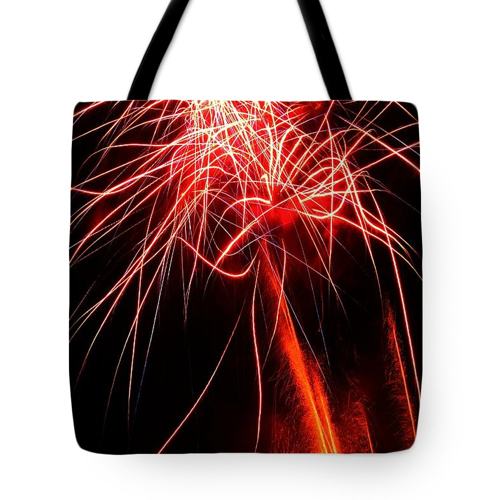 Fireworks Tote Bag featuring the photograph Backyard Fireworks 2012 4 by Robert Morin