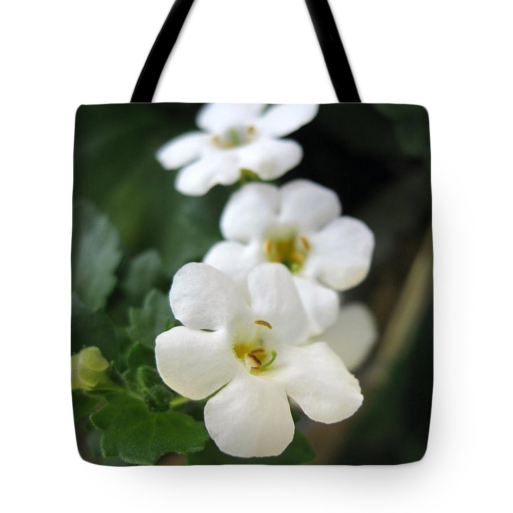 Bacopa Tote Bag featuring the photograph Bacopa Named Snowtopia by J McCombie