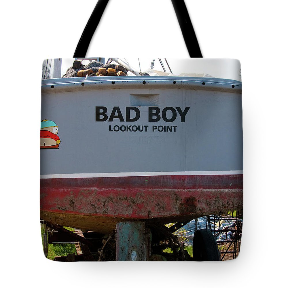 Boats Tote Bag featuring the photograph Bad Boy 0118 by Guy Whiteley