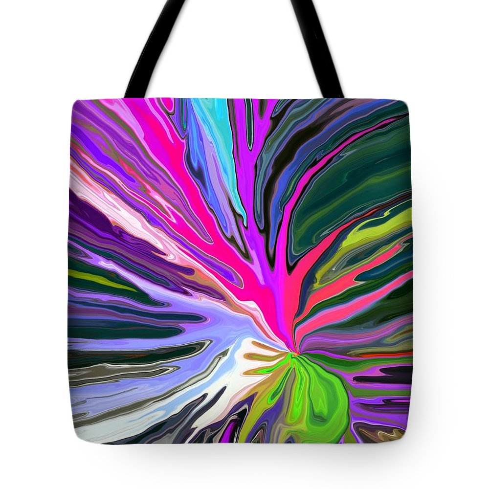 Abstract Tote Bag featuring the digital art Bad Seed by Chris Butler