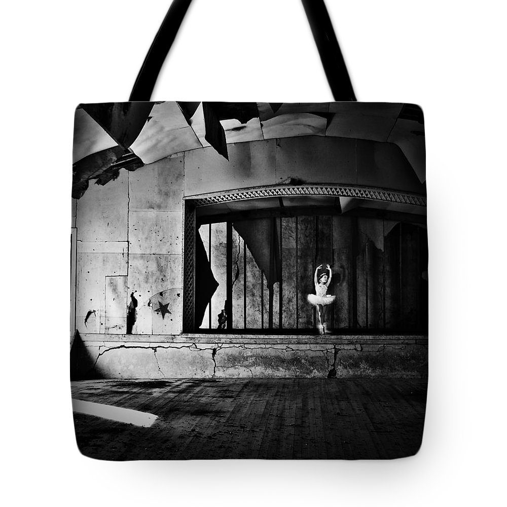 Street Photographer Tote Bag featuring the photograph Ballerinas Ballad by The Artist Project