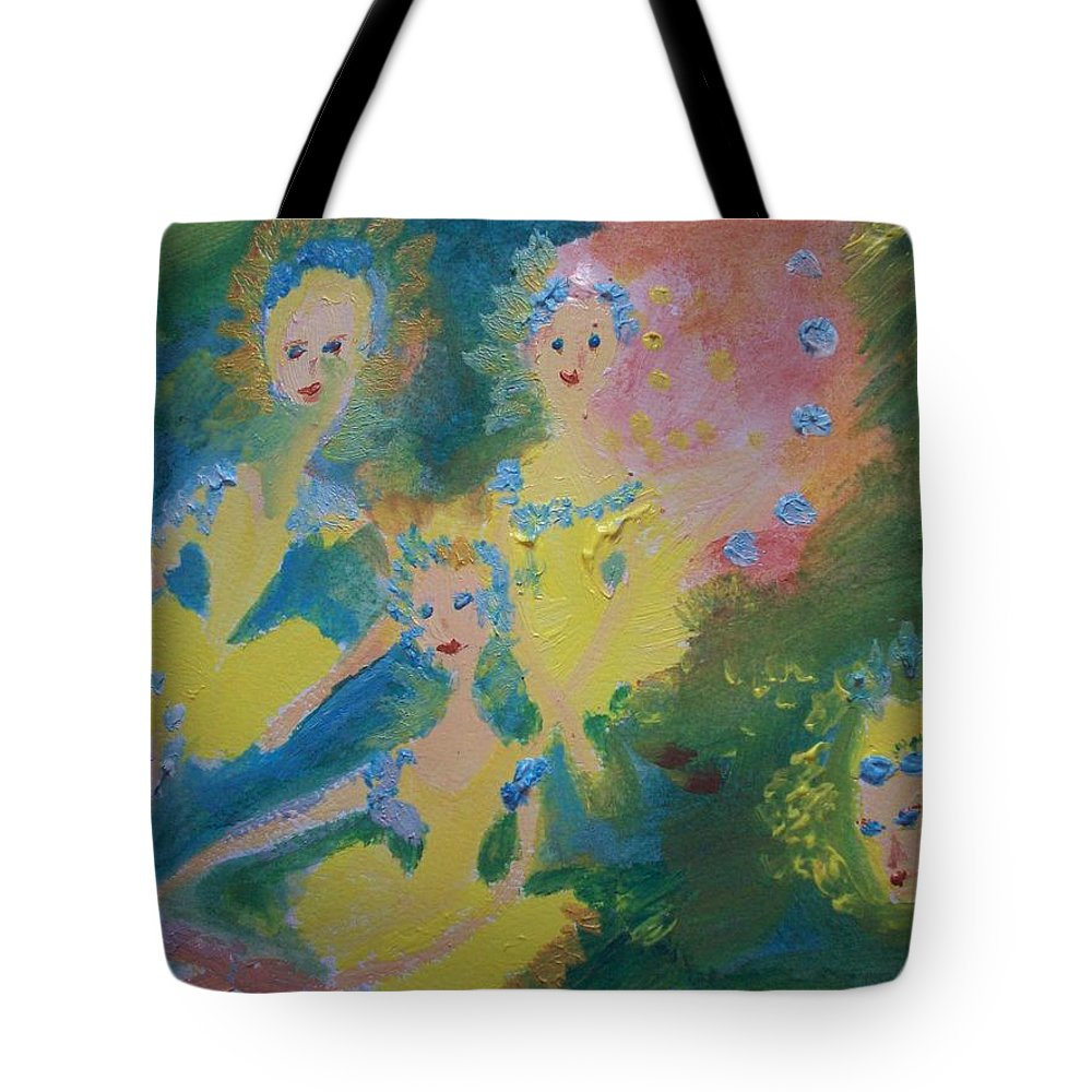 Ballet Tote Bag featuring the painting Ballet Of The Blooms by Judith Desrosiers