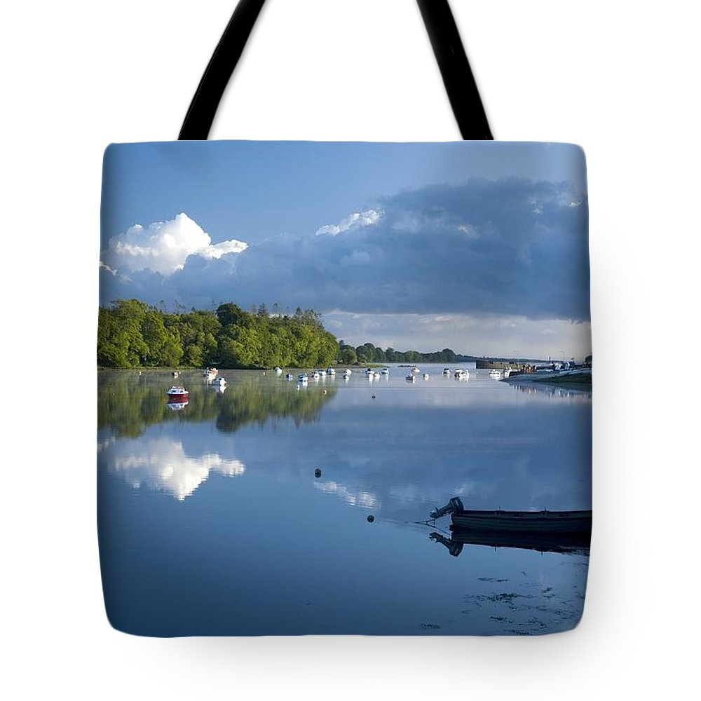 Outdoors Tote Bag featuring the photograph Ballina, Co Mayo, Ireland Morning by Gareth McCormack