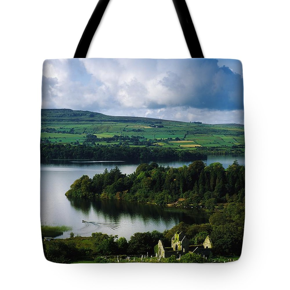 Ballindoon Tote Bag featuring the photograph Ballindoon Abbey, Lough Arrow, Co by The Irish Image Collection