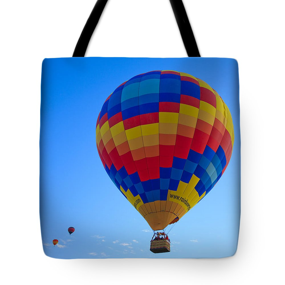 Hot Tote Bag featuring the photograph Balloon Fiesta by Michael Clubb