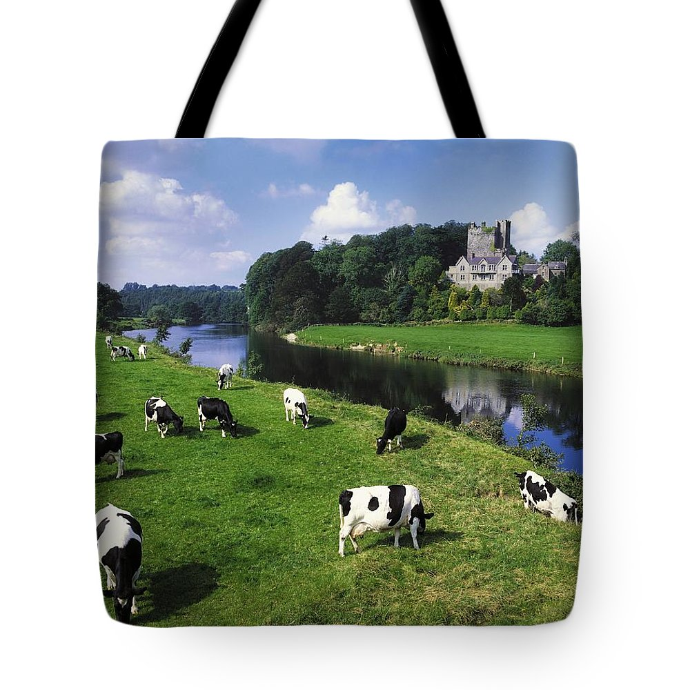Angular Tote Bag featuring the photograph Ballyhooley, Co Cork, Ireland Friesian by The Irish Image Collection