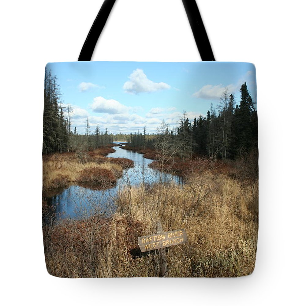 Tote Bag featuring the photograph Baptism River by Joi Electa