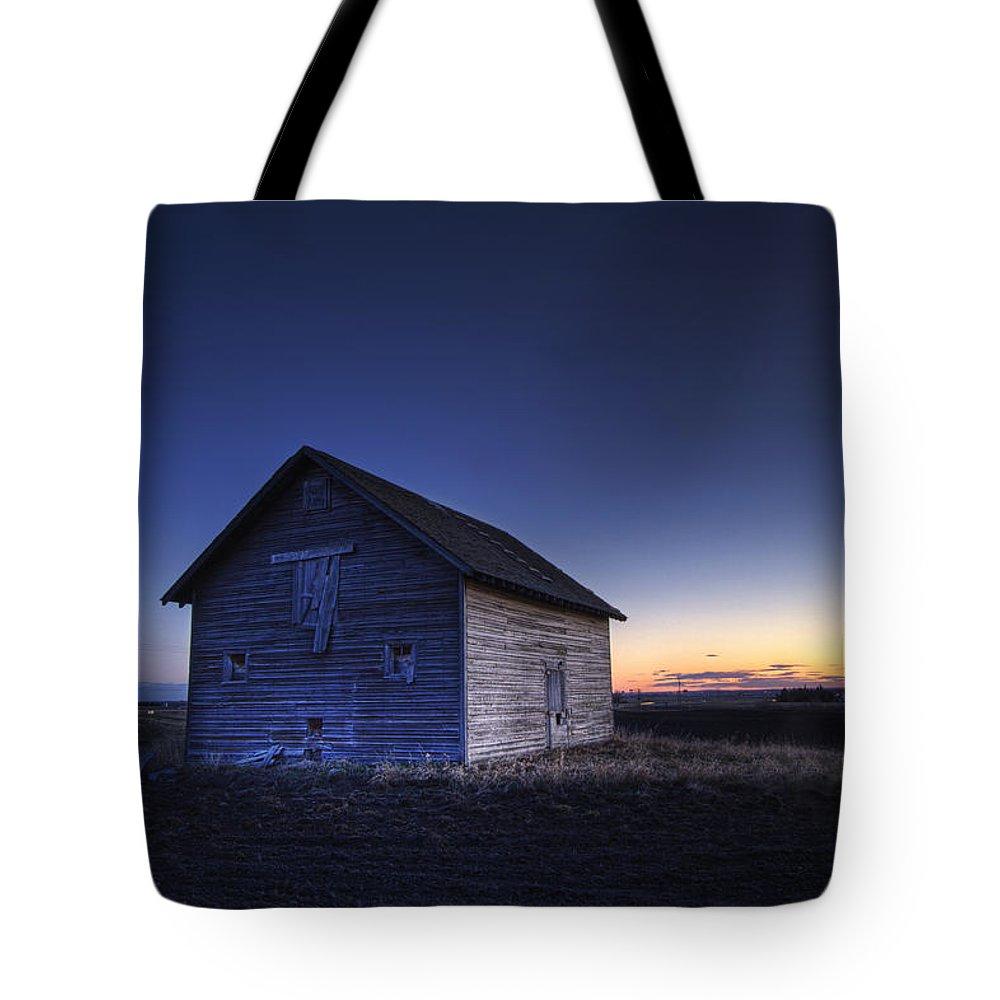 Barns Tote Bag featuring the photograph Barn At Sunset, Fort Saskatchewan by Dan Jurak