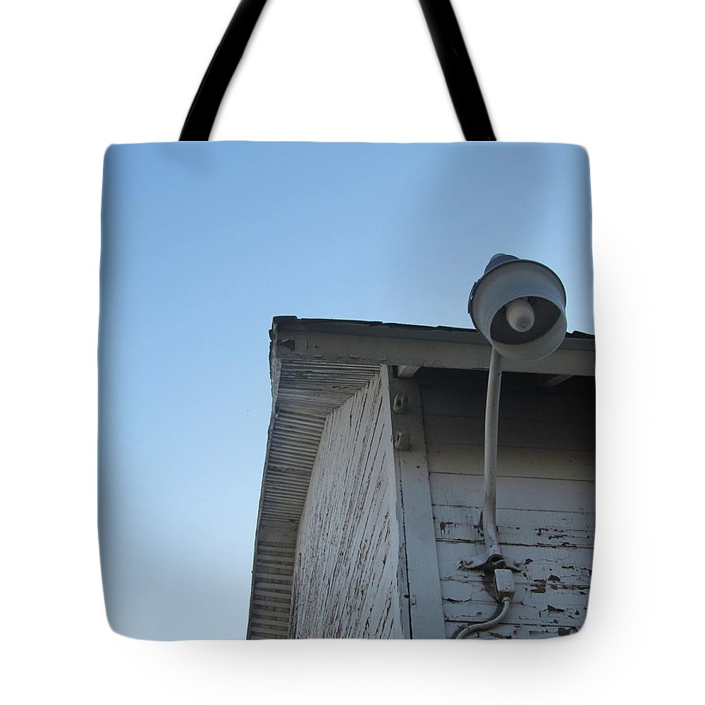 Barn Tote Bag featuring the photograph Barn Light West by Tina M Wenger