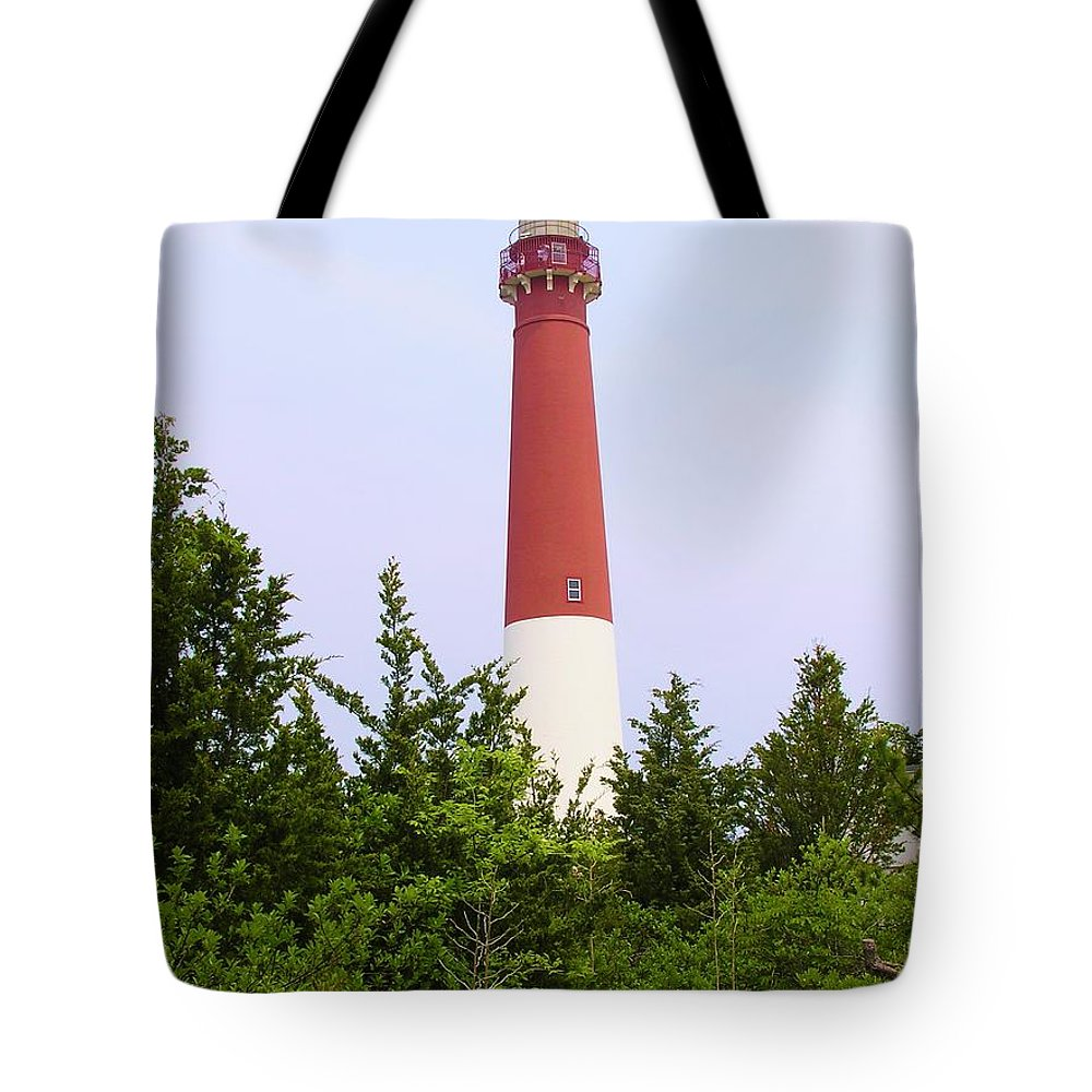 Lighthouse Tote Bag featuring the photograph Barnegat Lighthouse Old Barney Long Beach Island Nj by Sven Migot