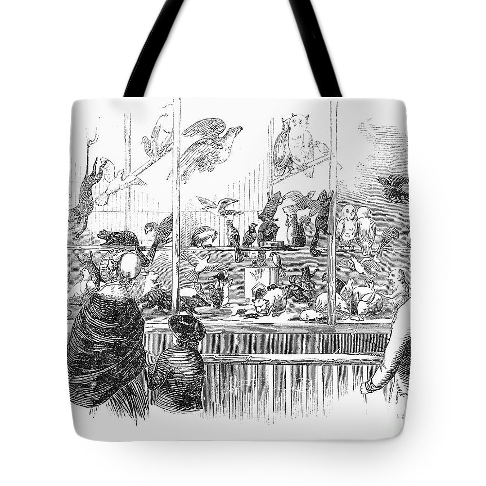 1853 Tote Bag featuring the photograph Barnums Museum, 1853 by Granger