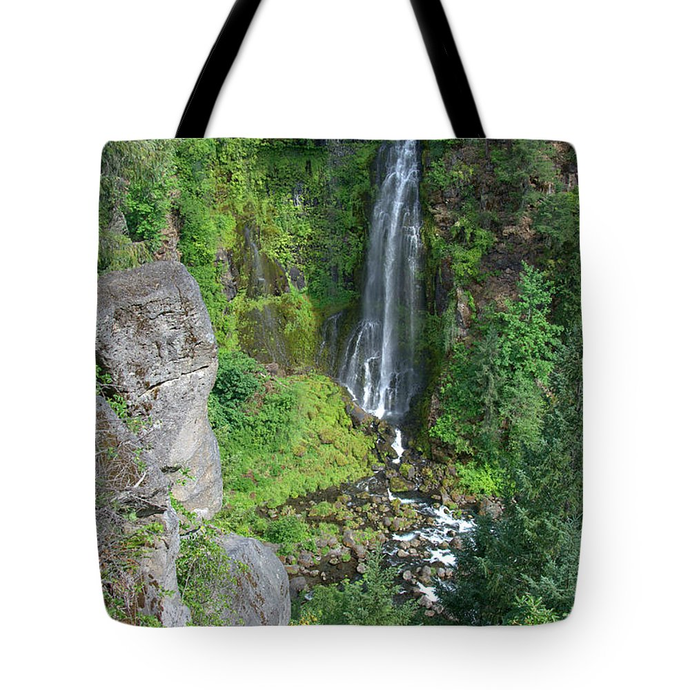 Barr Tote Bag featuring the photograph Barr Creek Falls by Mick Anderson