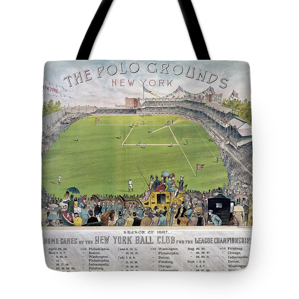 1887 Tote Bag featuring the photograph Baseball, 1887 by Granger