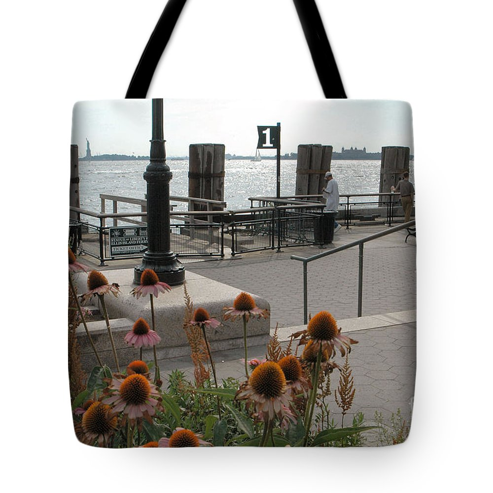 Battery Park Tote Bag featuring the photograph Battery Park by Mark Gilman