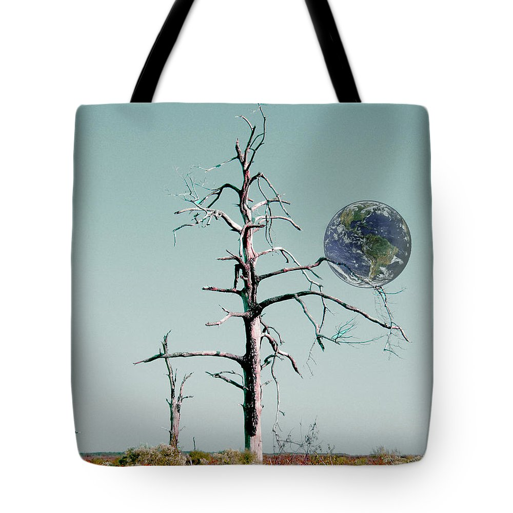 Earth Tote Bag featuring the digital art Battle Scarred by Lizi Beard-Ward