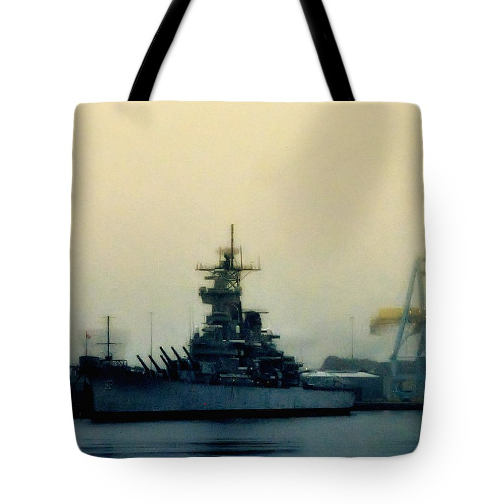 Battleship New Jersey Tote Bag featuring the photograph Battleship New Jersey by Bill Cannon