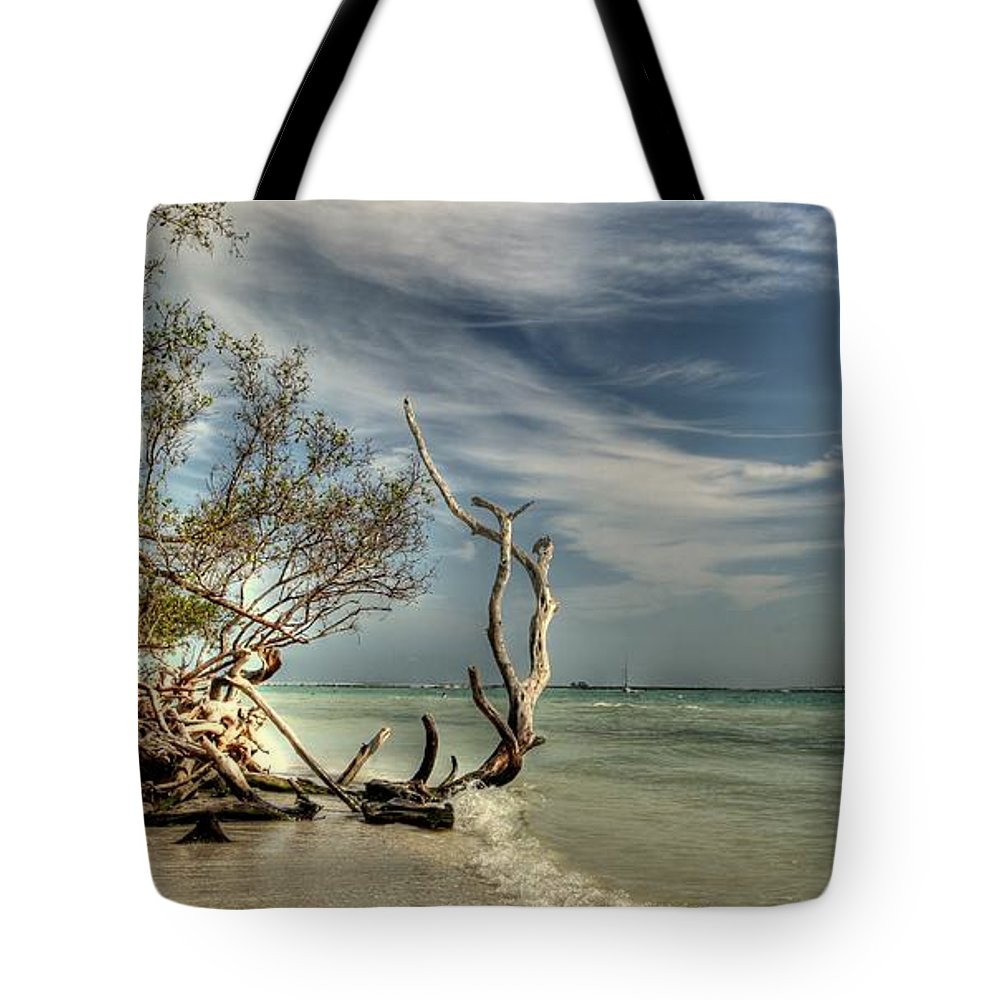 Paradise Tote Bag featuring the photograph Beach Tree by Sean Allen