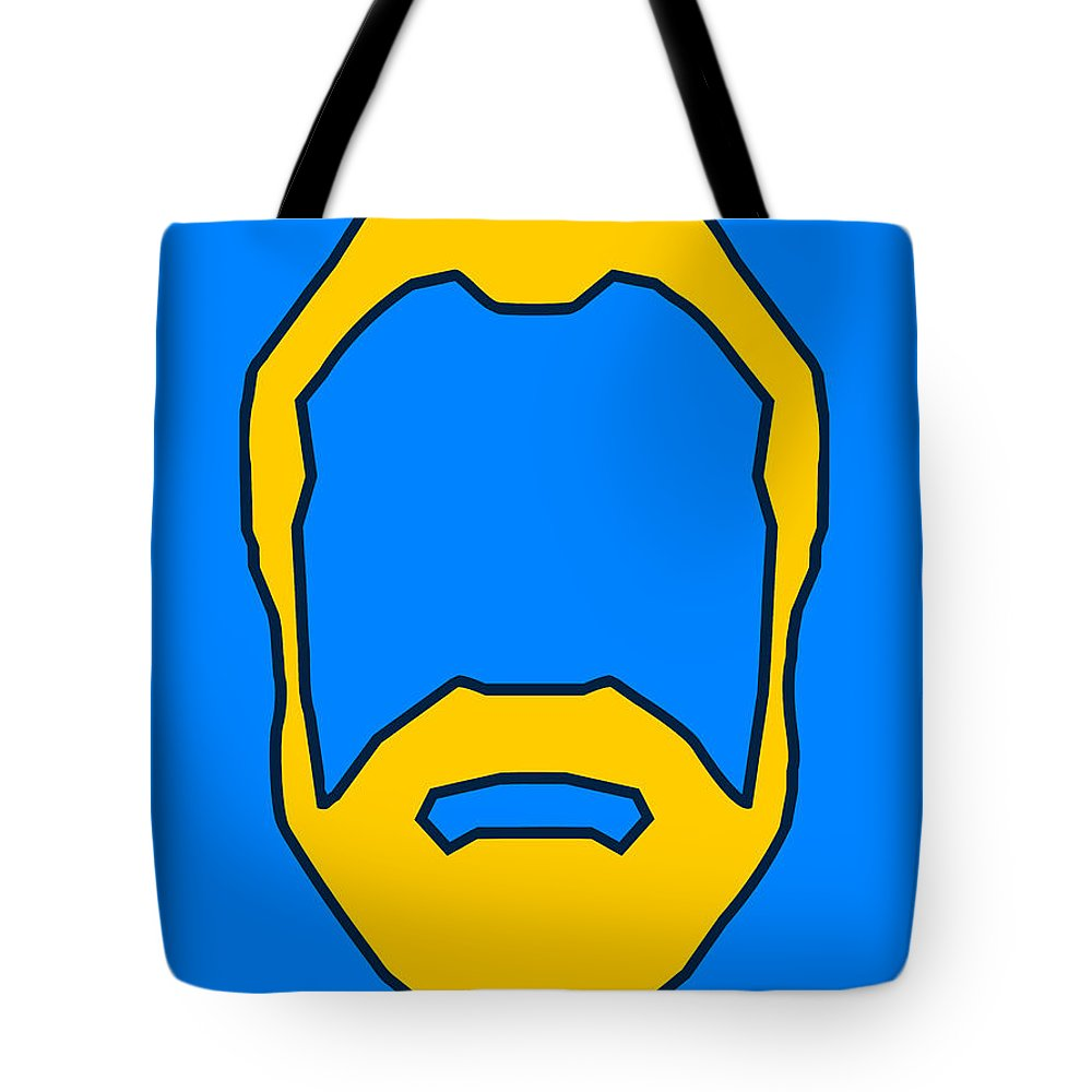 Face Tote Bag featuring the digital art Beard Graphic by Pixel Chimp
