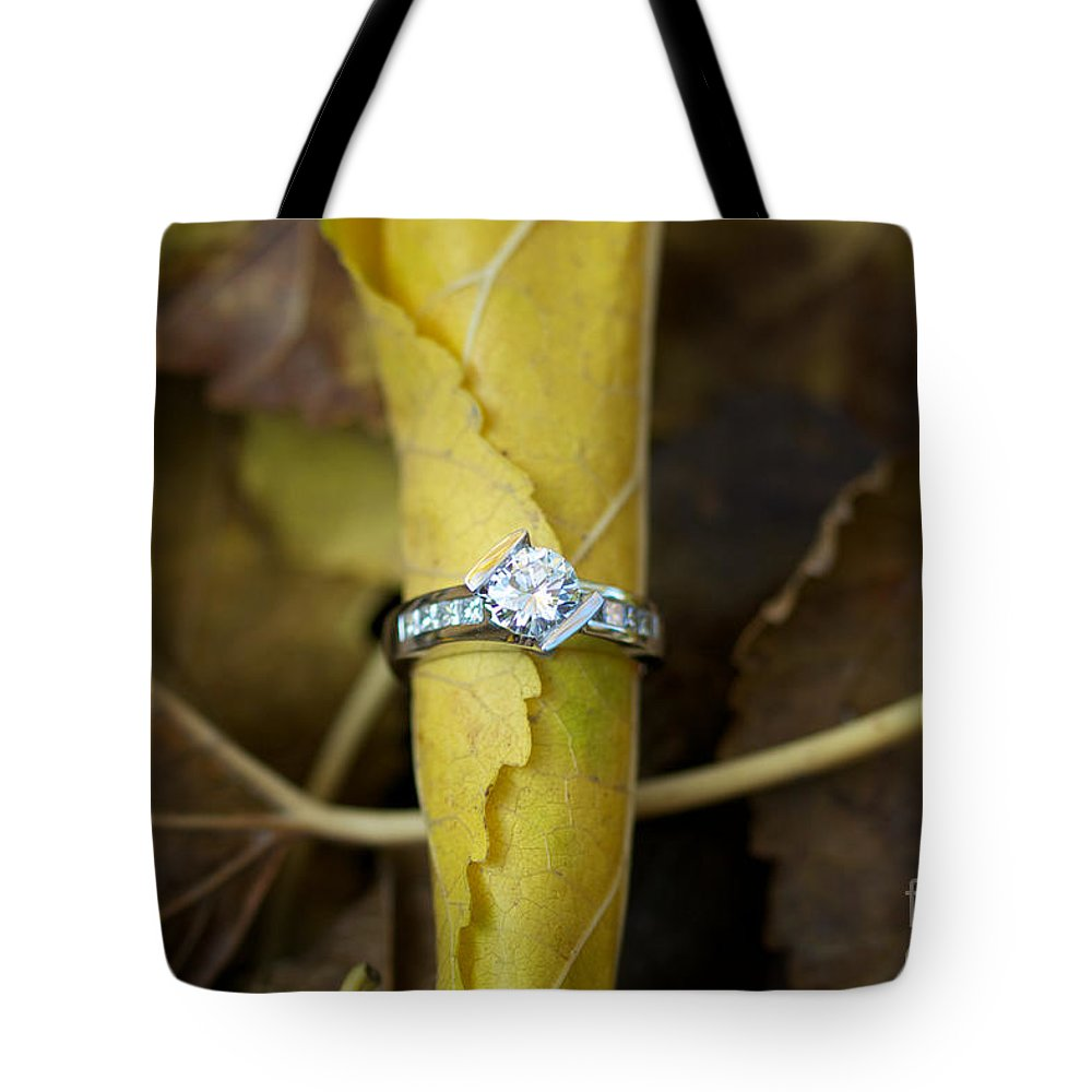 Solitaire Diamond Tote Bag featuring the photograph Beautiful Engagement Three by Brooke Roby