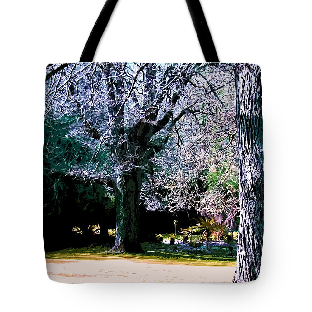 Park Tote Bag featuring the digital art Beautiful Parkland Digital Drawing by Phill Petrovic