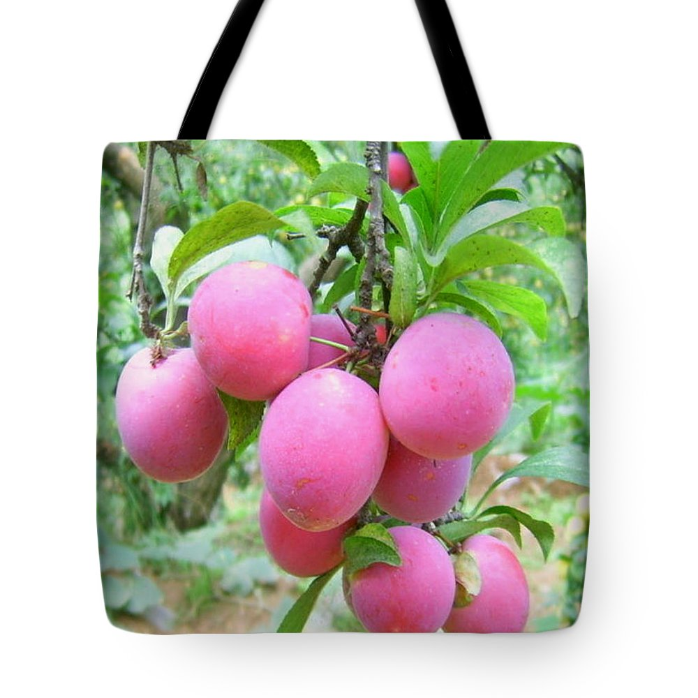Agriculture Tote Bag featuring the photograph Beautiful Pums by Jeelan Clark