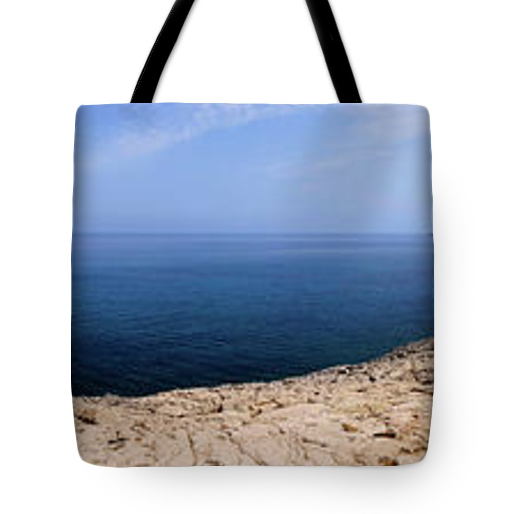 Cyprus Tote Bag featuring the photograph Beautiful View On Mediterranean Sea From Cape Gkreko In Cyprus by Oleksiy Maksymenko