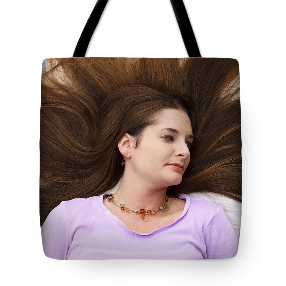 Woman Tote Bag featuring the photograph Beauty by Ricky Barnard