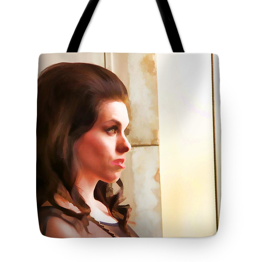 Beautiful Woman Portrait Brunette Tote Bag featuring the photograph Beauty Two by Alice Gipson