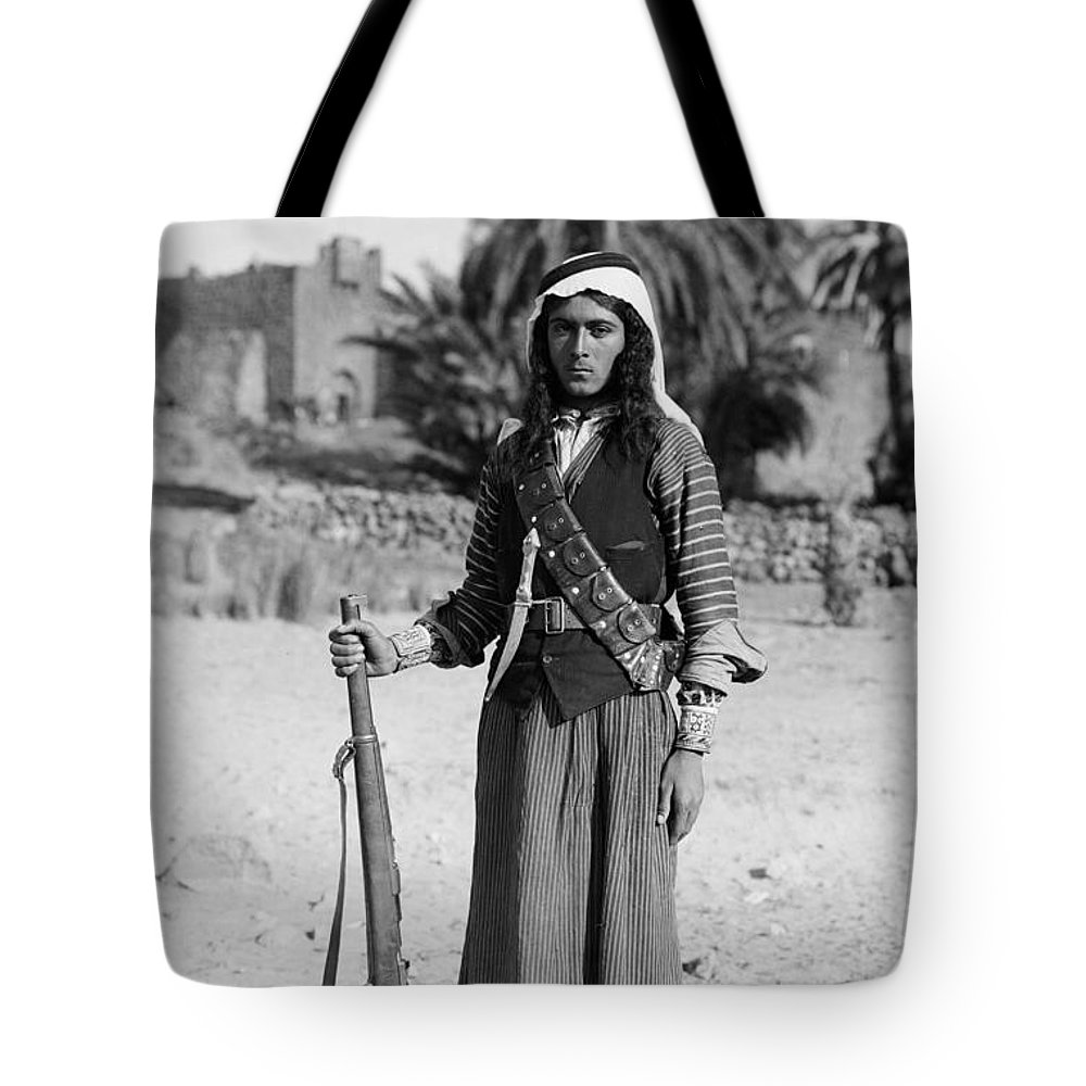 1926 Tote Bag featuring the photograph Bedouin Youth, C1926 by Granger