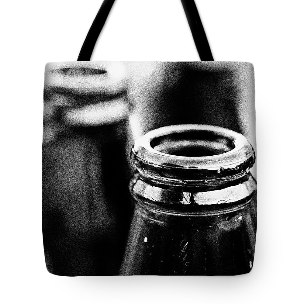 Beer Tote Bag featuring the photograph Beer Bottles by Hakon Soreide