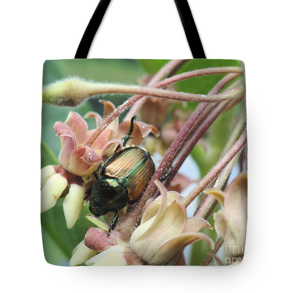 Holmesbrook Photographs Tote Bag featuring the photograph Beetle Juice by Trish Hale