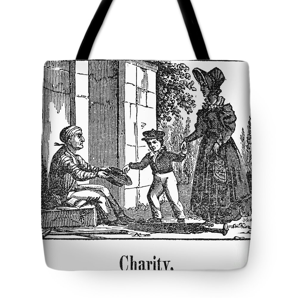 1830 Tote Bag featuring the photograph Beggar, C1830 by Granger